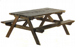2330mm x 1630mm x 700mm Green Picnic Bench